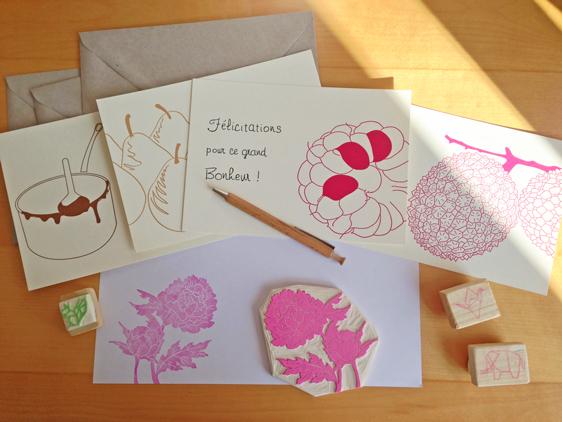 Kraftille - tampons gravés à la main et papeterie letterpress