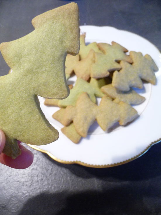 Biscuits de Noël au thé matcha