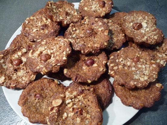 Délicieux biscuits à la noisette