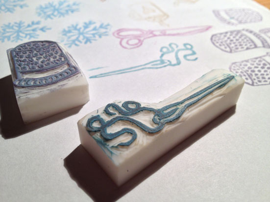 Tampons en gomme - Keshigomu hanko - Rubber Stamps