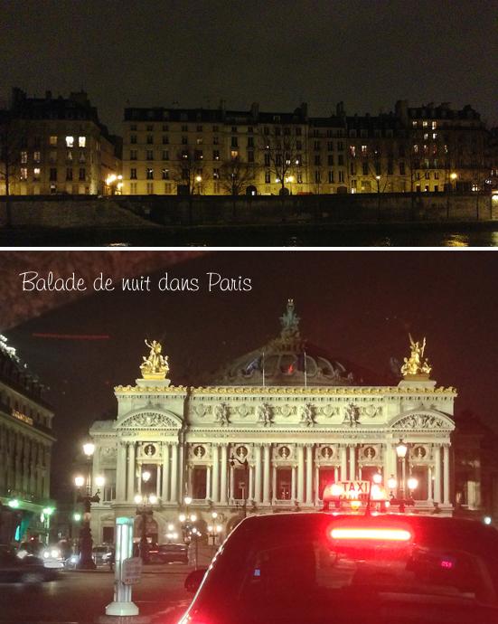 Balade de nuit dans Paris