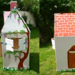 Cabane en carton pour enfant