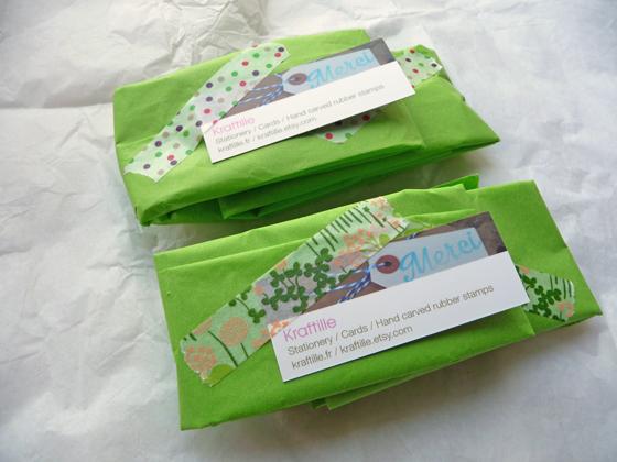 Le packaging de la boutique Kraftille