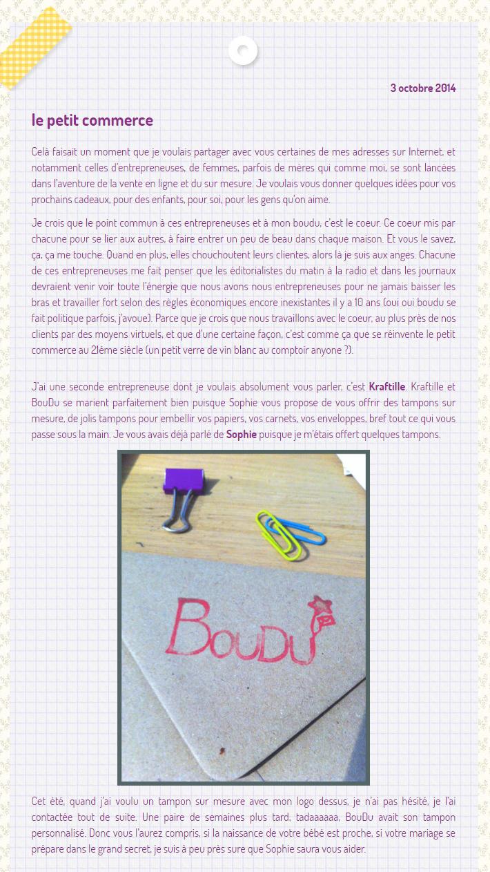 Boudu partage ses bonnes adresses du web