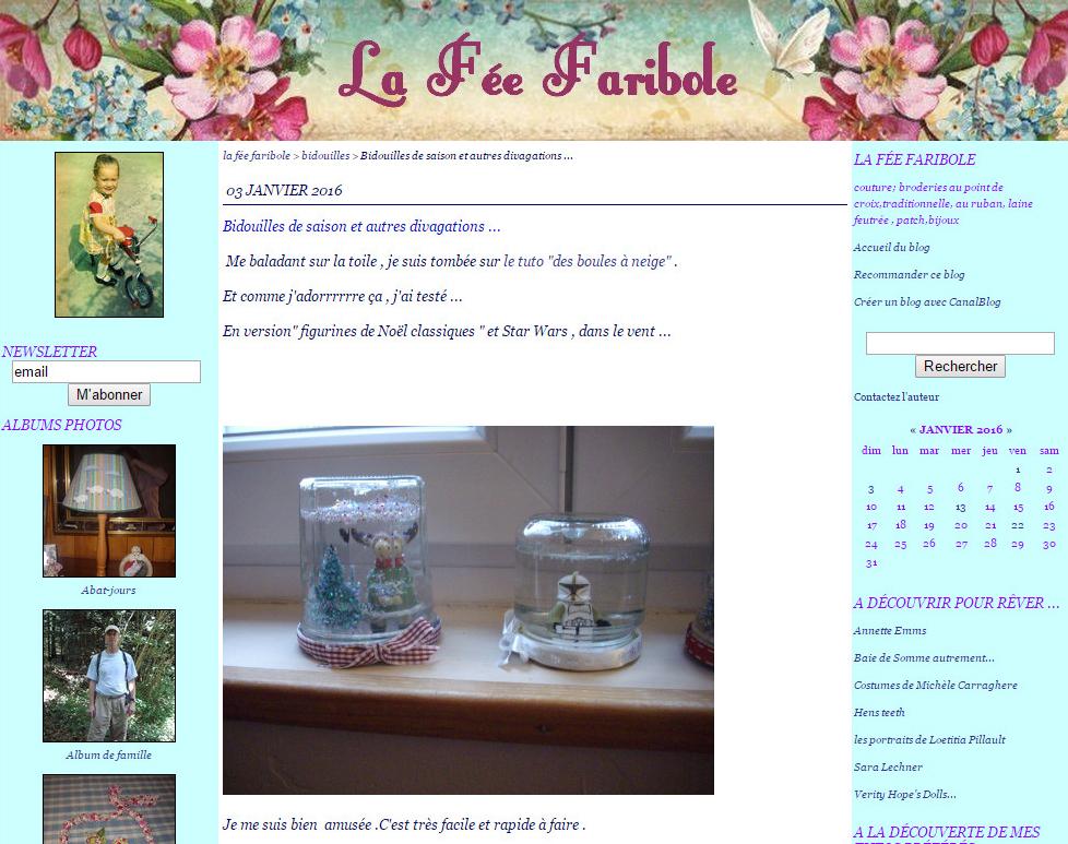 La Fée Faribole - Bidouilles de saison et autres divagations ...