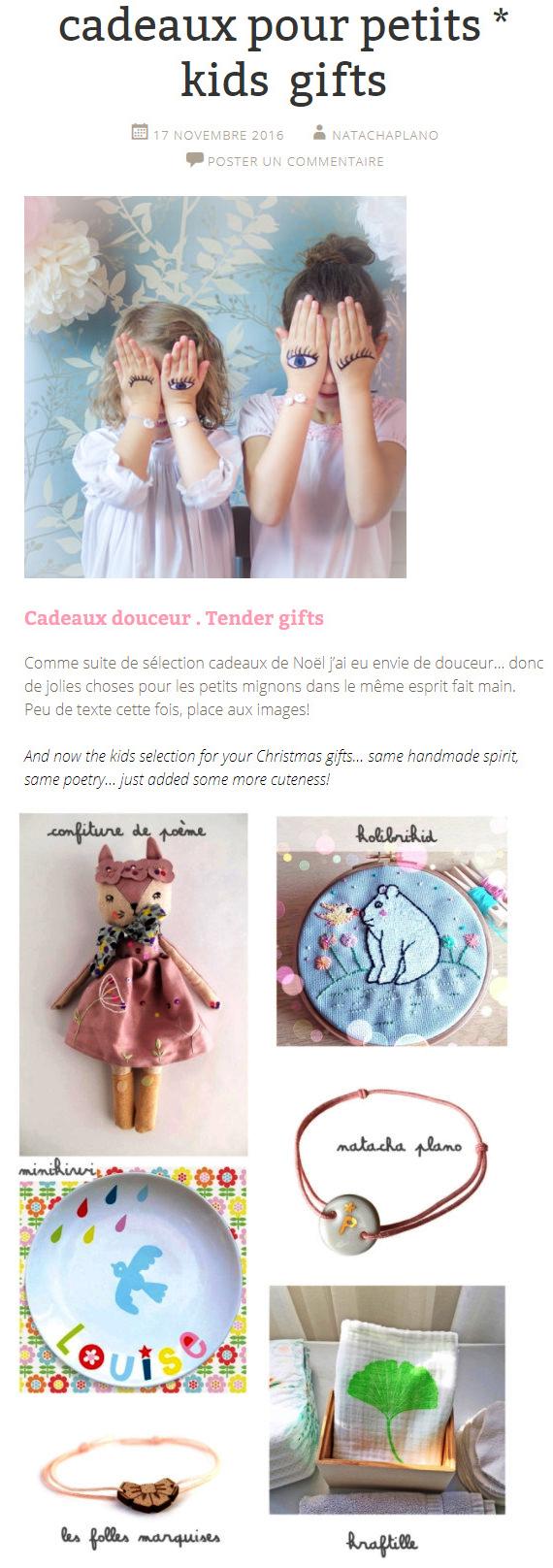 Sélection de créations pour petites filles romantiques