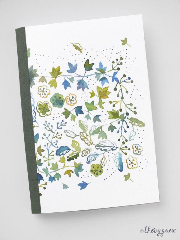 Cadeau, Moins de 10 euros, Papeterie illustrée, Papeterie fleurie