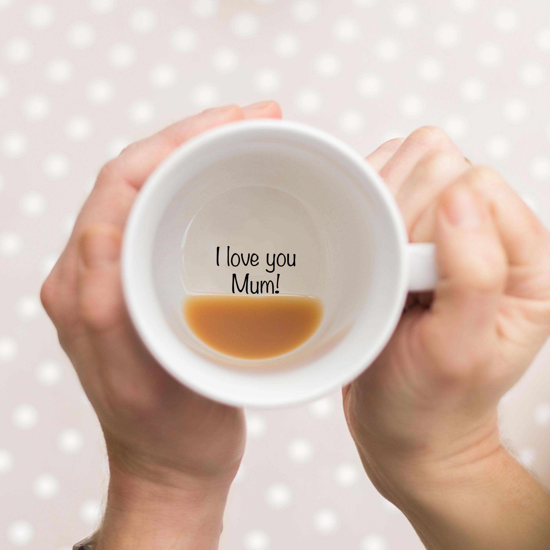 Gift For Mum, I Love You Mom, coffee mug, I love you, love you mom, Hidden Message, Secret Message, mug, mugs