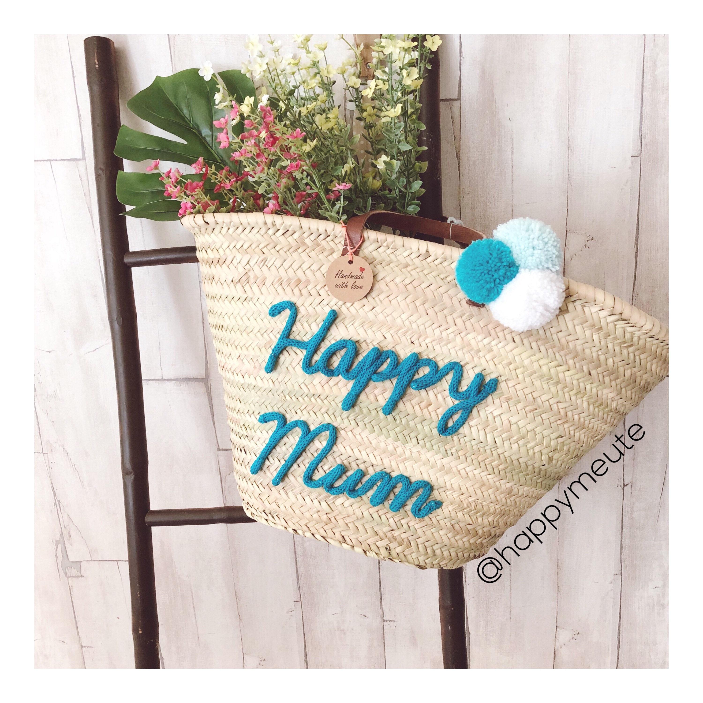 Cadeaux Fête des mères / Panier plage / panier osier / cabas