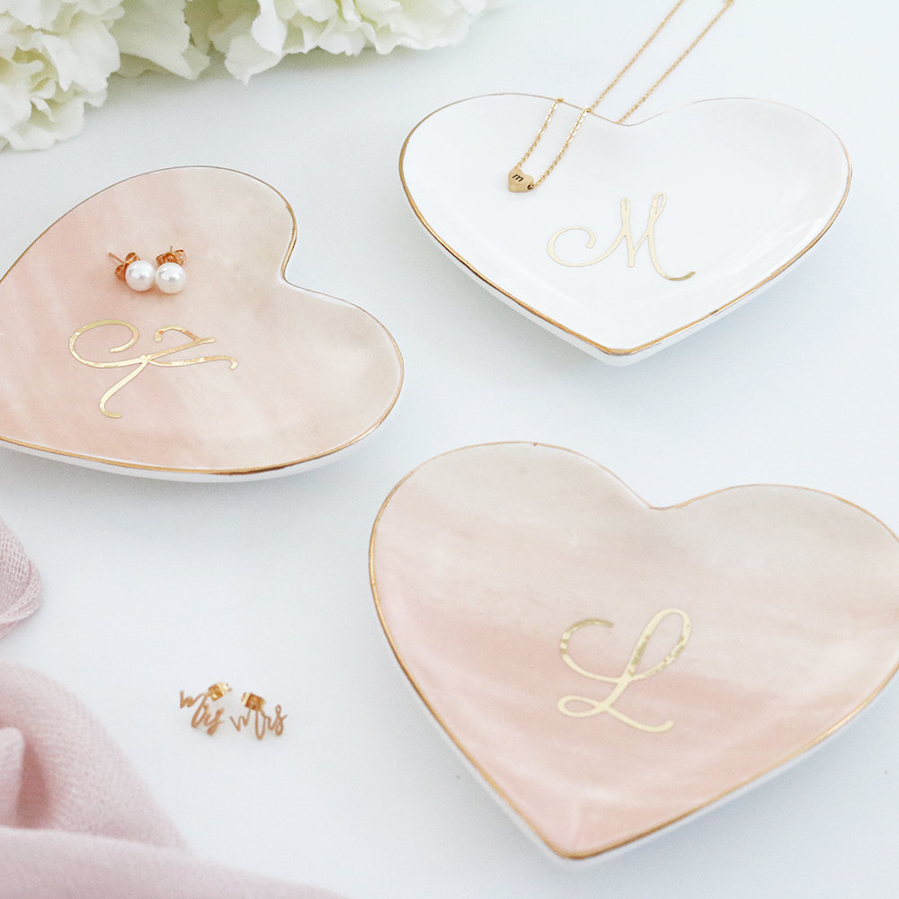 Bridal Party Gift Bridesmaid Maid of Honor Proposal Gift Jewelry Tray Catchall Ring Dish